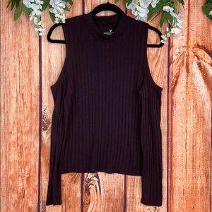 American Eagle Cold Shoulder Knit Sweater